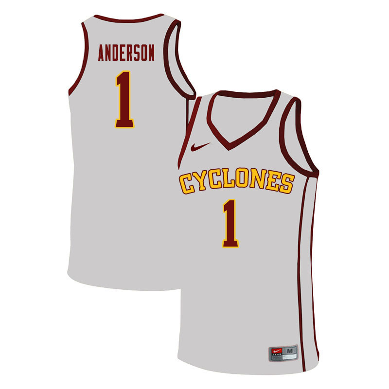Men #1 Luke Anderson Iowa State Cyclones College Basketball Jerseys Sale-White