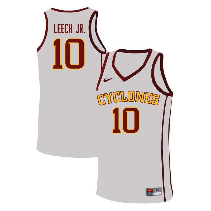 Men #10 Marcedus Leech Jr. Iowa State Cyclones College Basketball Jerseys Sale-White