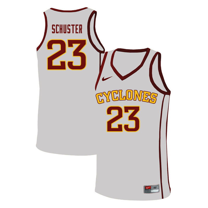 Men #23 Nate Schuster Iowa State Cyclones College Basketball Jerseys Sale-White