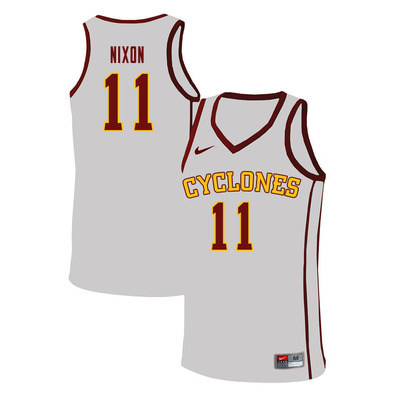 Men #11 Prentiss Nixon Iowa State Cyclones College Basketball Jerseys Sale-White