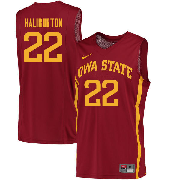 Men #22 Tyrese Haliburton Iowa State Cyclones College Basketball Jerseys Sale-Cardinal
