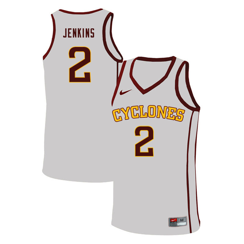 Men #2 Nate Jenkins Iowa State Cyclones College Basketball Jerseys Sale-White