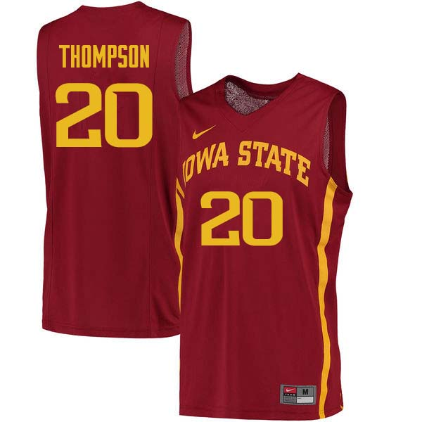 Men #20 Gary Thompson Iowa State Cyclones College Basketball Jerseys Sale-Cardinal