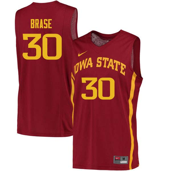 Men #30 Hans Brase Iowa State Cyclones College Basketball Jerseys Sale-Cardinal