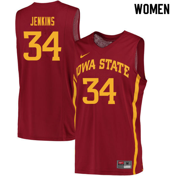 Women #34 Nate Jenkins Iowa State Cyclones College Basketball Jerseys Sale-Cardinal