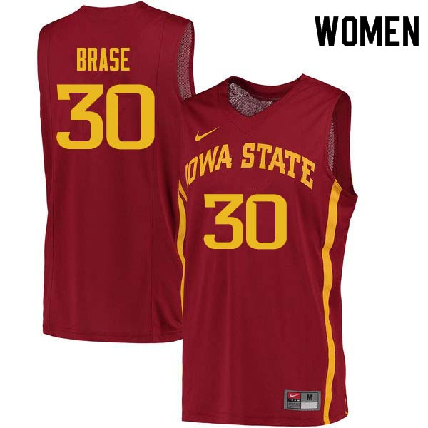Women #30 Hans Brase Iowa State Cyclones College Basketball Jerseys Sale-Cardinal