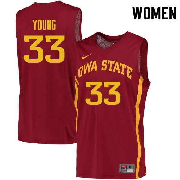 Women #33 Solomon Young Iowa State Cyclones College Basketball Jerseys Sale-Cardinal