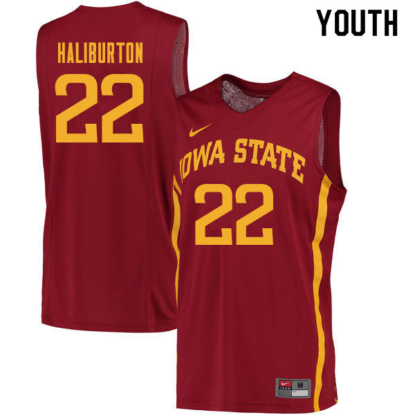 Youth #22 Tyrese Haliburton Iowa State Cyclones College Basketball Jerseys Sale-Cardinal
